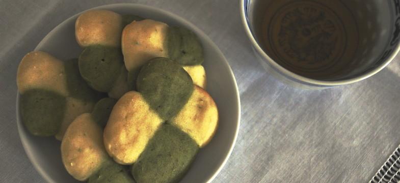 Liebeskummer Rezepte: Grüne-Tee-Plätzchen