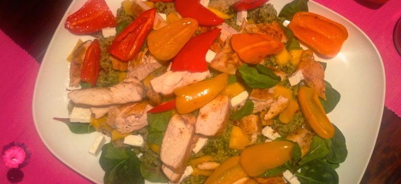 Liebeskummer Rezepte: Hühnchen mit Quinoa-Mango-Salat